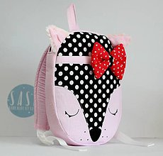 Detské tašky - RUKSAK BABY LÍŠKA od 1,5r. (Čierna) - 8722522_