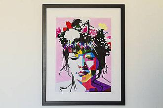 Obrazy - Floral Girl - 8720586_