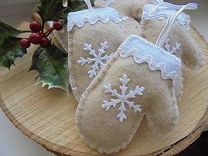 Dekorácie - Vianočné ozdoby - rukavičky - 8721867_