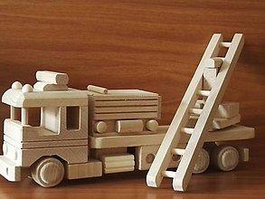 """Hračky - Drevené autíčko """"Hasičské zásahové vozidlo"""" - 8721961_"""