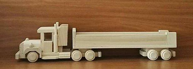 """Hračky - Drevené autíčko """"Kamion-Truck"""" dlhý - 8722149_"""