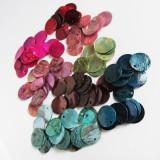 Minerály - Perleť farebná / kruh 15mm - 8724331_