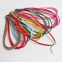 Komponenty - Hodvábny náhrdelník 3mm - 8724341_