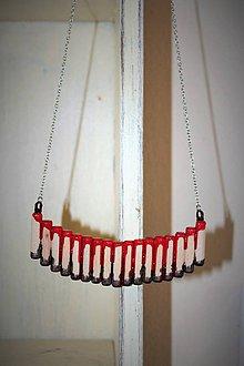 """Náhrdelníky - náhrdelník """"krv a čokoláda"""" - 8720289_"""