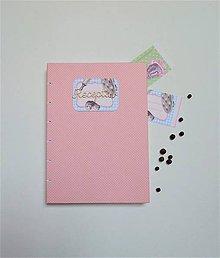 Papiernictvo - Receptár - ružový - 8720599_