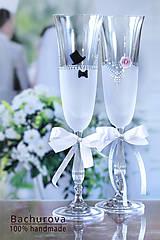 - Svadobné poháre (Pieskovaná mená nebo datum) - 8723503_
