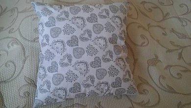 Úžitkový textil - bielo-šedý vankúš - 8722843_