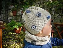 Detské čiapky - Béžová čiapočka - 8720440_
