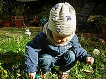Detské čiapky - Béžová čiapočka - 8720442_