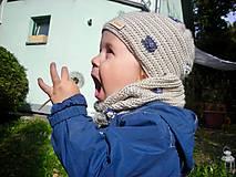 Detské čiapky - Béžová čiapočka - 8720443_
