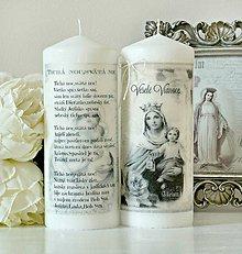 Svietidlá a sviečky - Tichá noc duo sviečok XL20cm - 8723987_