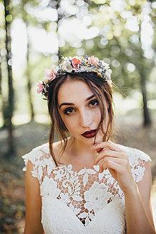 Ozdoby do vlasov - Kvetinový polvenček \