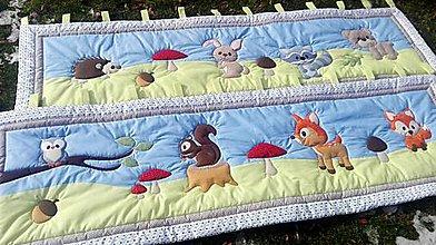 Textil - zásteny s lesnými zvieratkami - 8721747_