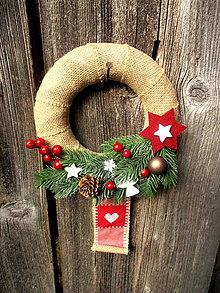 Dekorácie - Vianočný venček - 8720755_