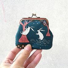 Peňaženky - Peňaženka mini Zajace - 8723936_