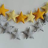 Dekorácie - Hviezdičková girlanda sivá - 8723483_