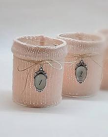 Svietidlá a sviečky - Svetríkové adventné svietniky púdrovo ružové - 8722436_