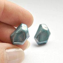 Náušnice - Náušnice zelené Krystalix / perleťový vzhľad - 8720262_