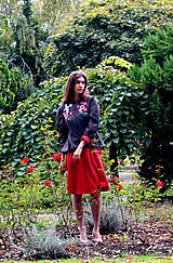 Kabáty - Bundička s bohatou výšivkou fauny a flóry - 8720035_