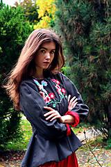 Kabáty - Bundička s bohatou výšivkou fauny a flóry - 8720037_