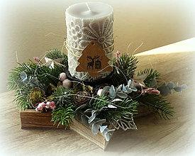 Dekorácie - Vianočný svietnik - 8728261_