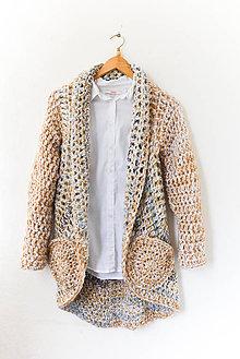 Kabáty - Kruhový kabát & vrecká... Púštne nebo... - 8728825_