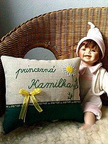 """Úžitkový textil - vankúšik """"princezná Kamilka"""" - 8725529_"""