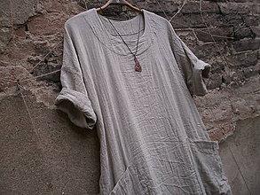 Šaty - Režné,lněné šaty - 8726539_