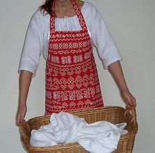 Iné oblečenie - Zásterka Červené Čičmany - 8728145_