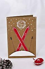 Papiernictvo - Vianočný pozdrav - Bude dobrá lyžovačka (Hnedá) - 8729436_