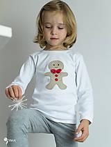 Detské oblečenie - tričko PERNÍK  kr/dl rukáv - veľ. od 86 do 128 - 8727534_