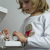 Detské oblečenie - tričko PERNÍK  kr/dl rukáv - veľ. od 86 do 128 - 8727546_