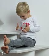 Detské oblečenie - tričko KAPRÍK  kr/dl rukáv - veľ. od 86 do 128 - 8729340_