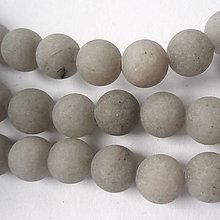 Minerály - Jadeit matný 8mm-1ks (šedá) - 8729609_