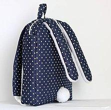 Detské tašky - RUKSAK  ZAJAČIK tmavomodrý ( rôzne veľkosti ) - 8724979_