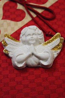 Magnetky - Anjelik zlatý aj strieborný č.1 magnetka (Strieborná) - 8728870_