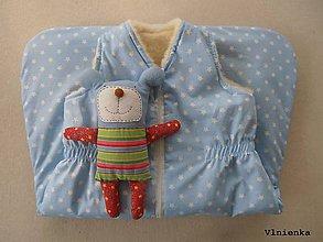 Textil - Spací vak pre deti a bábätká ZIMNÝ 100% MERINO na mieru Hviezdička bledomodrá - 8729250_