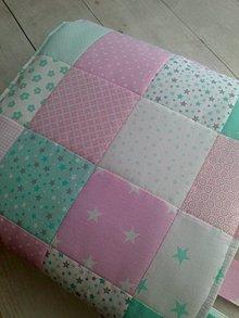 "Úžitkový textil - Zástena ""mentol-ružová"" - 8727297_"