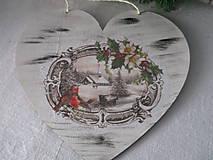 Dekorácie - Srdiečko Čaro zimy - 8729251_