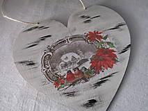 Dekorácie - Srdiečko Čaro zimy - 8729255_