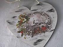 Dekorácie - Srdiečko Čaro zimy - 8729261_