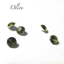 Komponenty - Vlepovací kabošon kónický 3mm / 10ks (Olive) - 8727893_