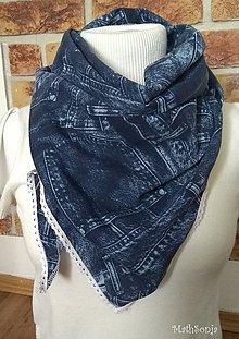 Šatky - Šatka Jeans - 8724586_