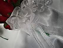 Kytice pre nevestu - Svadobná kytica s pierkom - 8728476_