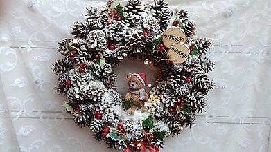 Dekorácie - Veniec vianočný na zavesenie...so svetlami - 8728759_