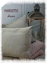 Úžitkový textil - Lněný povlak LILLY krajka 45x45cm - 8726953_