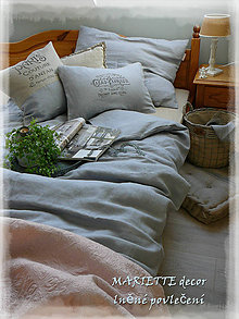 Úžitkový textil - NOVÉ ...lněné povlečení MUR DE PROVENCE - 8726444_