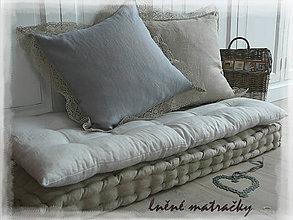 Úžitkový textil - Lněná matračka GRIS CLAIR 100x50 - 8726938_
