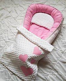 Textil - Set pre bábätko ružové bodky - 8727275_
