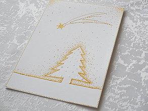 Papiernictvo - Pohľadnica vianočná s kométkou - 8724855_